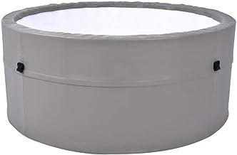 RJJBYY Jacuzzi Hinchable para 4 Personas con función de Calentamiento a Temperatura Constante Piscina de Aguas Termales Familiar Piscina