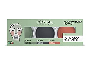 L'Oréal 3 Pure Clays Multi-Masking Face Mask Play Kit, 3 x 10ml