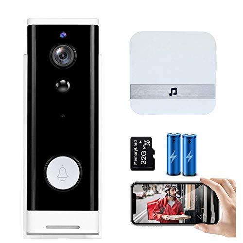M-TOP Wireless WiFi Video Doorbell Smart Phone Door Ringer Intercom...