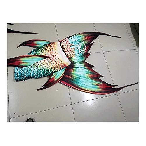 Conjunto con Cola De Sirena,Establece For Niña Disfraz De Sirena Princesa Cosplay Conjuntos Traje de baño Princesa Sirena (Color : Style Q)