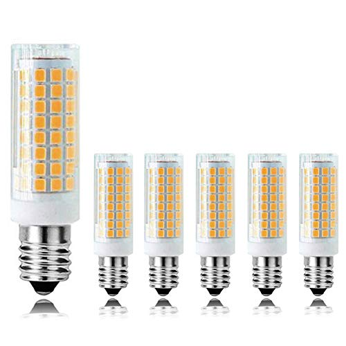 MD Lighting E14 10W Dimmable Chandelier LED Light Bulb(6 Pack), 3000K Warm White 900LM Light Bulb for Electric Window Candle Lamp, 90 Watt Incandescent Bulb Equivalent, AC 120V