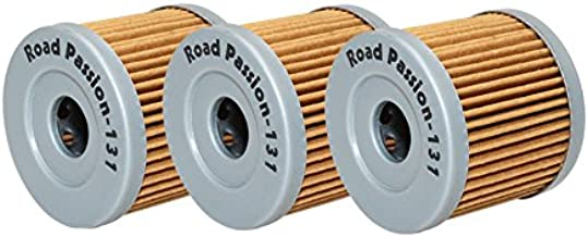 Road Passion Oil Filter for SUZUKI LT125 1983-1987 LT185 1984-1987 LTZ90 QUADSPORT 2007-2009 (pack of 3)