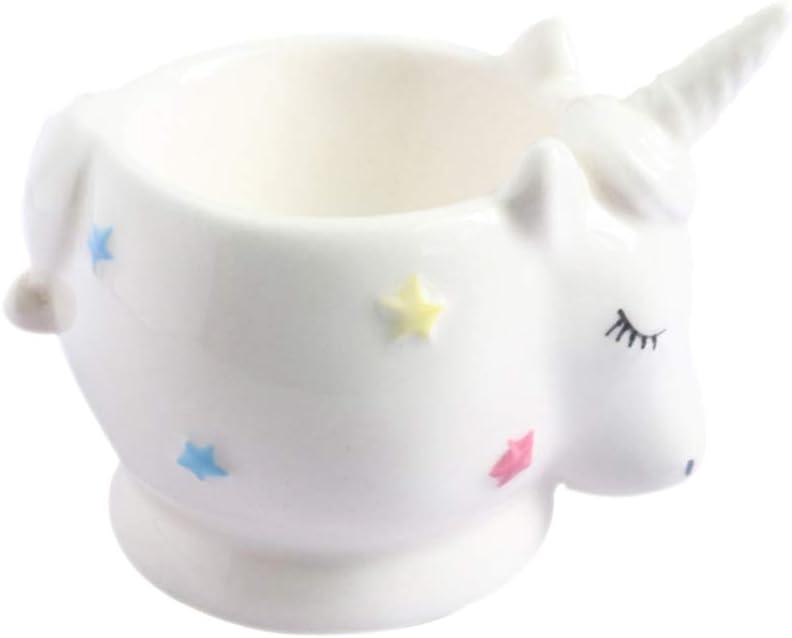 2Pcs Ceramic Unicorn-Shaped Super beauty gift product restock quality top Egg Children Cup Novelty Holder