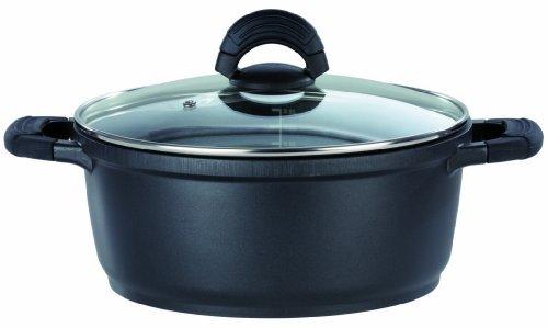 GSW 458 casseroles silcoGUSS Noir, 20 cm