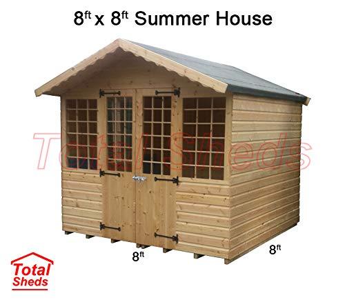 Total Sheds 8ft (2.4m) x 8ft (2.4m) Summer House Cabin...