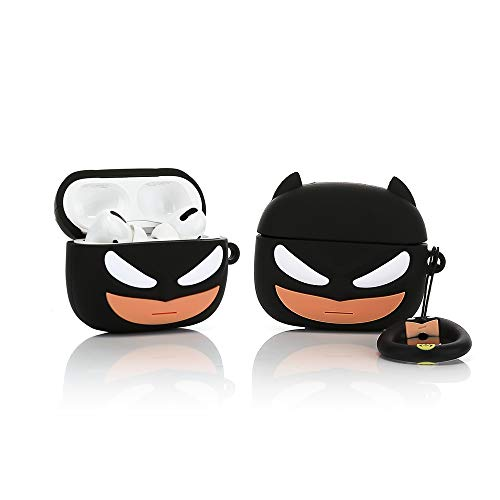 ZAHIUS Funda de Silicona Airpods Pro Funda Divertida Compatible con Apple Airpods Pro [Patrón de Dibujos Animados 3D MV] Girl Boy (3D Batman)