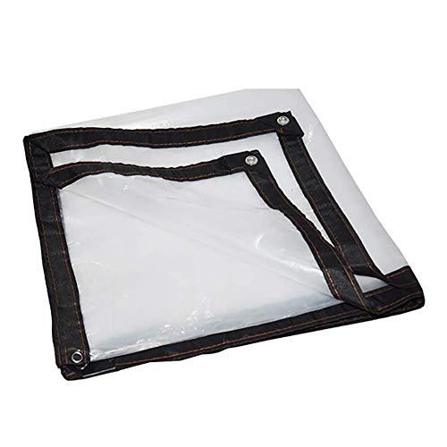 Plane dik transparant, kunststof doek rand waterdichte tarps, warmte- en winddichtingskoude afdichting raamfolie (grootte: 2 × 2m)
