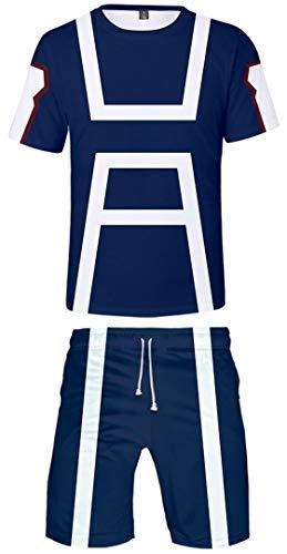 Silver Basic Ropa Deportiva para Hombre Chándal Anime Japonés My Hero Academia Camiseta y...