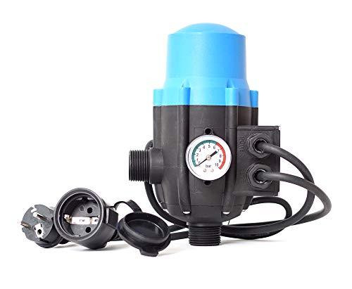 Pumpensteuerung PS-01B Druckschalter Druckwächter für Pumpe Gartenpumpe Hauswasserwerk mit ntegrierten Trockenlaufschutz und Kabel (2x)
