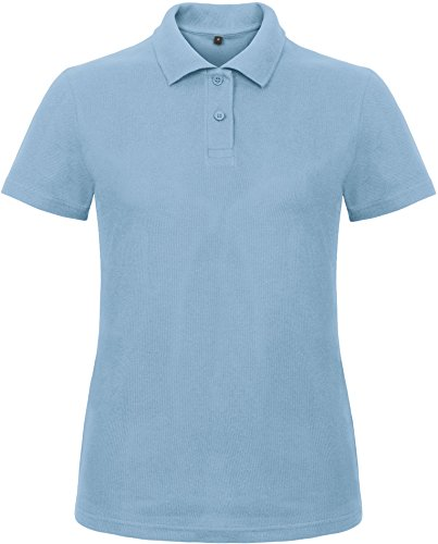 B&C Ladies Piqué Damen Polo Shirt - PWI11, Größe:L, Farbe:Light Blue