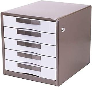 Classeurs avec Verrouillage 5 Couche de données Cabinet de Bureau Boîte de Rangement Tiroir PC de Bureau Plat UOMUN