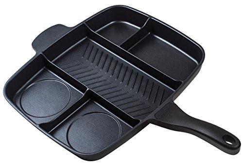 MASTER Masterpan Serie 5Padella a induzione, con Manico ergonomico in bachelite, Nero