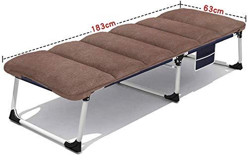 Tumbonas Jardin acolchada cama plegable silla de oficina silla de la siesta con fácil compartimiento de almacenamiento Ocioso silla de playa balcón camping, colchones, azul (color de 1001),1003