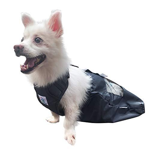 derYEP Bolsa de arrastre para perros duradera para interior paralizado, patas traseras y traseras para discapacitados, protege el pecho y las extremidades (L)..