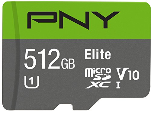 PNY Elite 512GB MicroSDXC Card, Up to 90MB/S – (P-SDU512U190EL-GE)