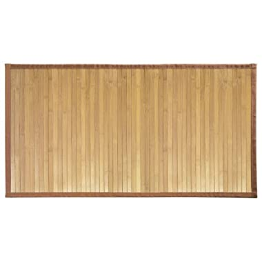 "InterDesign Bamboo Floor Mat – Ideal Mat for Kitchens, Bathrooms or Offices - 21"" x 34"", Natural"