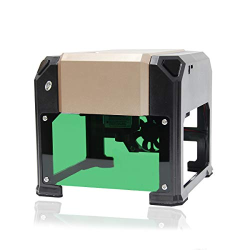 Wisamic Laser Engraving Machine - Desktop Laser Engraver Cutter DIY Engraving Machine, 80 * 80mm Engraving Area, USB Connection