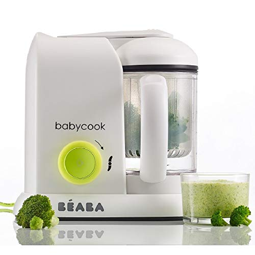 Béaba - Babycook Solo 4-in-1 Baby Food Processer, Blender and Cooker - Steam Cooking - Neon