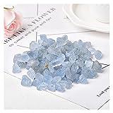 JSJJAHN Piedras y Cristales 50 g / 100 g 8-12mm Cristal Natural Cuarzo Kyanite Rock Méter Modelo Espécimen Azul Curación de la energía de la energía Reiki para la decoración del Acuario