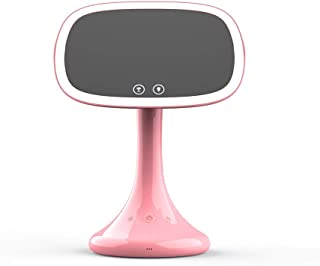 Bluetooth Touch Screen Wireless Makeup Mirror USB Charging Vanity Back lights 10x Magnifying Dimmable Makeup Cosmetic Mirrors (Color : Pink)