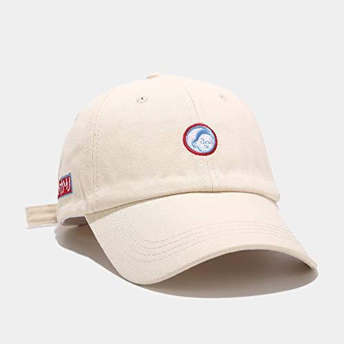 ZWXDMY Snapback Cap,Dessin Animé Enfants Broderie Sport Sun Cap Réglable Respirant Snapback Caps Outdoor Coupe-Vent Sunbonnet Unisexe Hip Hop Hat pour Été Camping Voyage Cadeau-Beige