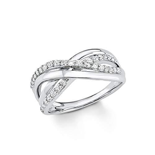 s.Oliver Jewel Damen-Ring 925 Silber rhodiniert Zirkonia weiß Gr. 56 (17.8) - 507752