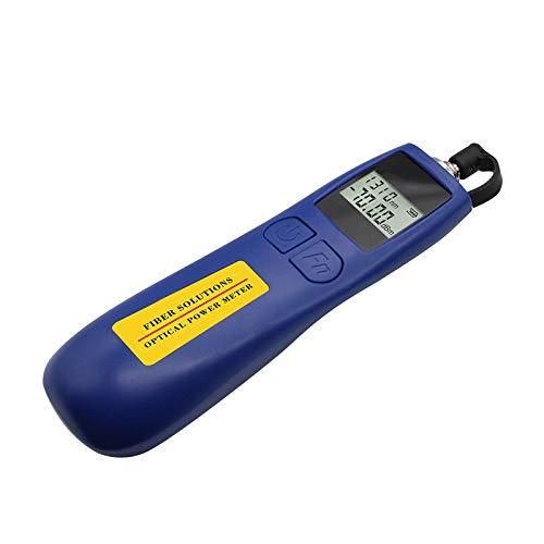 Qiirun Optical Power Meter -70~+10 dBm Fiber Light Meter for Testing 6 Calibrated Wavelengths, 68g Light Weighted