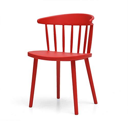 LJZslhei Stuhl Startseite Einfache Stuhl Kreative Kunststoff Esszimmerstuhl Lounge Stuhl Moderne Zurück Schreibtisch Stuhl Shop Outdoor Stuhl Rot