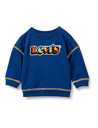 Levi's Kids Chenille Crewneck C662 Sweatshirt, Estate Blue, 6 Mois Bébé garçon