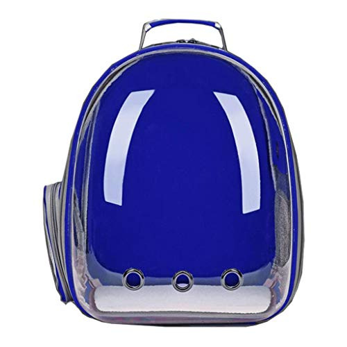 YULAN Shoulder Pet Box Transparent Side Open Cage Backpack Cat And Dog Portable Travel Transport Car Out Of Consignment Multicolor 33 * 28 * 44cm (Color : Blue)