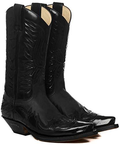 Sendra Boots Stivali Western 3241 Corvo Flora/Sprinter Nero Size: 42 EU