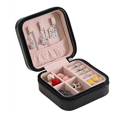 KDABJD Travel Jewelry Organizer Tragbarer Reißverschluss Aufbewahrung Schmuckverpackung Vitrine Juwelier Sarg Ohrringhalter Ring Geschenkbox