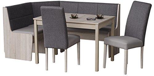 Eckbankgruppen Küchen Eiche Eckbank Stühle Tisch Eiche Sonoma Eiche - (2777)