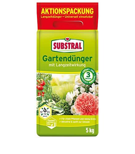 Substral Gartendünger mit Langzeitwirkung für Obst, Gemüse, Blumen, Sträucher, Koniferen und Hecken