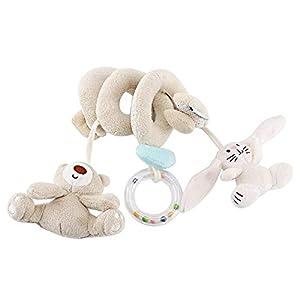 Cama sonajeros de juguete, cuna de bebé, cochecito de cama, envoltura en espiral, juguetes de peluche, dibujos animados para bebés, animales, juguete apaciguador, adorno colgante para cuna