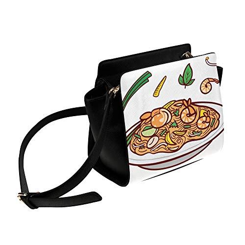Rtosd Umhängetaschen Kleine leckere Nudeln Lebensmittel Umhängetasche Umhängetaschen Reisetaschen Seesack Umhängetaschen Gepäck Für Damen Mädchen Damen Kleine Taschen Für Damen