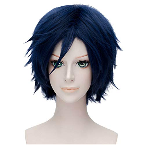 Flovex Short Straight Anime Cosplay Wigs Natural Sexy Costume Party Daily Hair (Blonde 3)