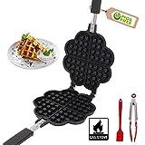 Mini waffle Maker, waffle belga Maker, antiaderente doppio lato waffle pan,per bambini, casa, bar, ristorante, pasticceria, 14 cm