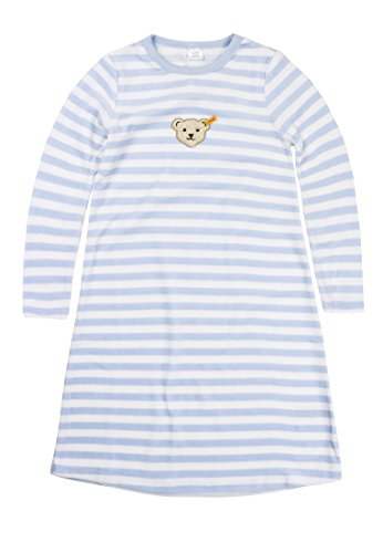 Steiff 0006578 Nightdress 1/1 Sleeves - T-shirt à manches longues - - - - Fille - Bleu - Steiff Baby Blue - 5 Ans (Taille fabricant: 5 Jahre)