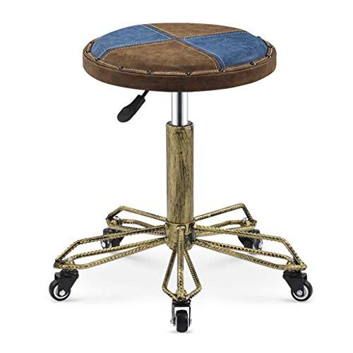 Mscxj Barhocker Stühle runden Salon Massage-Stuhl Schwenker Hydraulic Gas Maniküre Tattoo Küche Kurklinik Moderne und stilvolle Design Welt Bunte (Color : #4)