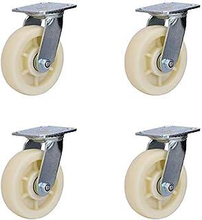 4 X Heavy Duty zwenkwielaanhangwagen Nylon zwenkwielen Trolley Push Platte auto Universeel wiel met rem Multi-size vervang...
