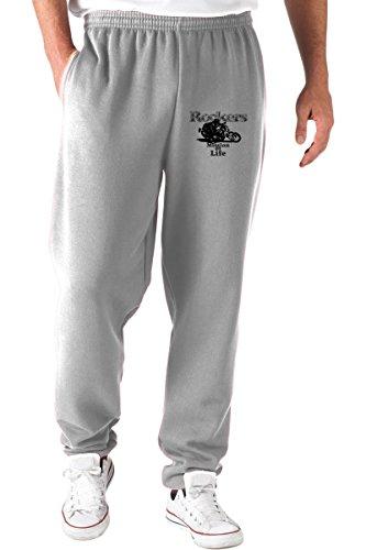 T-Shirtshock Pantalones Deportivos Gris T0257 Rockers Auto Moto Motori
