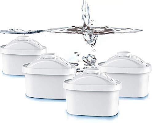 4 Pcs Cartouche Filtrante Fit Brita Maxtra Carafe filtre à eau Cruche Cartouches Fit Brita Maxtra Cruchede Mavea Maxtra, Elemaris, Marella, Aluna froid
