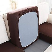 Homeen Couch Cushion Covers,Fundas de cojín de Asiento de sofá,Funda de cojín de sofá elástica Premium,Protector de cojín de Asiento,con Fondo elástico-café Oscuro_Grande 1 Plaza