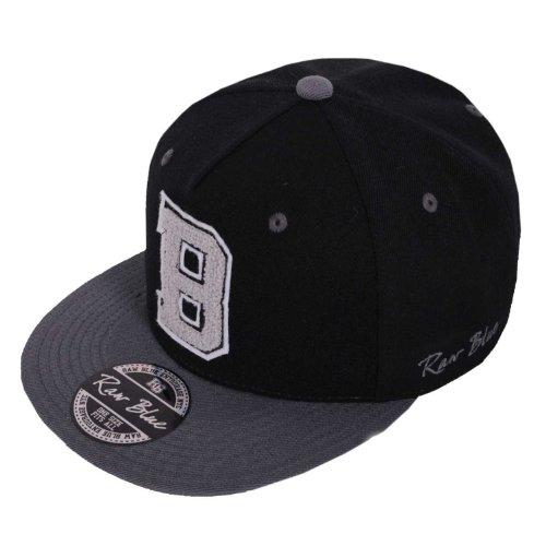 Raw Blue Letterpatch-Snapback B in Black / Grey