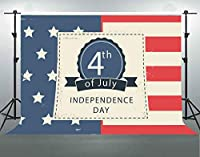 F-FUN SOUL 7x5フィート/2.1x1.5m 独立記念日 コットン背景 アメリカ国旗 背景 兵士 ポートレート YouTube写真 ビデオ スタジオ 小道具 LHFS240