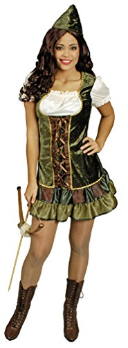 narrenkiste K31250590-34 - Disfraz de Robin Hood para mujer, talla 34