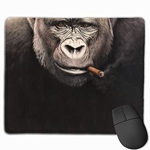 Alfombrilla de ratón Mono Cigar Baboons Fumar Cigarrillo Alfombrilla de ratón Alfombrilla de ratón Alfombrilla de ratón Antideslizante Alfombrilla de ratón Impermeable (25x30cm)