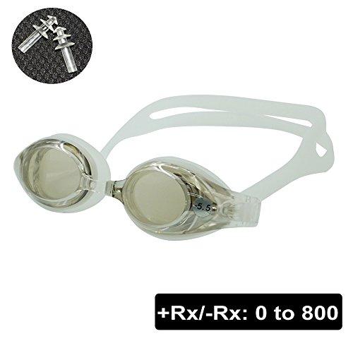 EnzoDate Hyperopie RX optische bril, 1 tot en met 8 myopie, 1 tot 8 volwassenen, kinderen verschillende diktes voor elk oog zwemmen