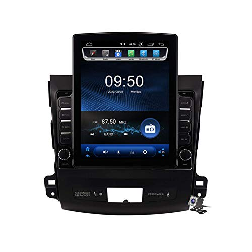 Android 9.0 Radio estéreo para automóvil compatible con Mitsubishi Outlander 2005-2011 Navegación GPS Unidad principal de pantalla vertical de 9.7 pulgadas Reproductor multimedia MP5 Video con 4G WiF